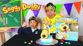 Jugamos con Soggy Doggy el Perro que Nos Moja con mi Hermano Aladdin - Juguetes vs Ami
