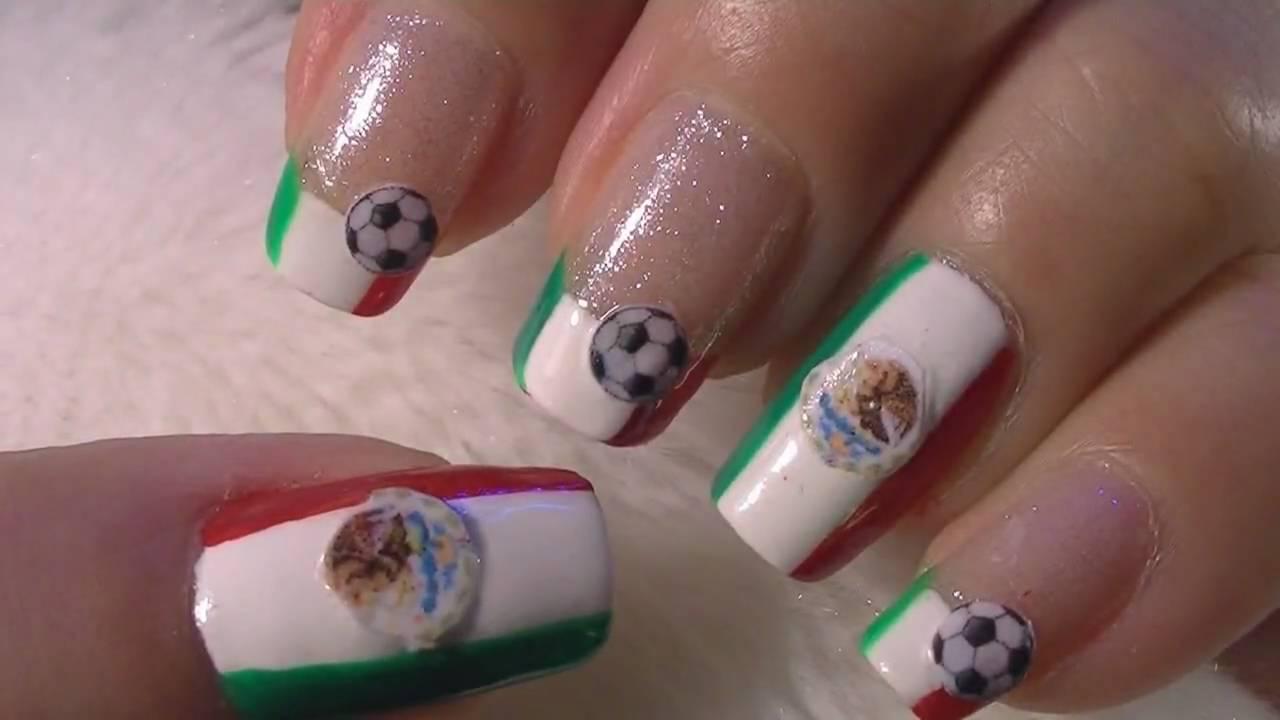 World cup mexico nail art tutorial fifa mundial mexico - Ver unas decoradas ...