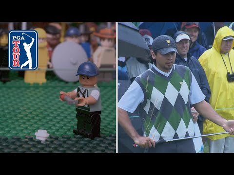 LEGO Jason Day's clutch putt in 2011 Presidents Cup