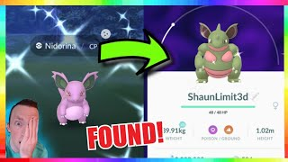 WILD SHINY NIDORINA CAUGHT + SHINY NIDOQUEEN in Pokemon Go!