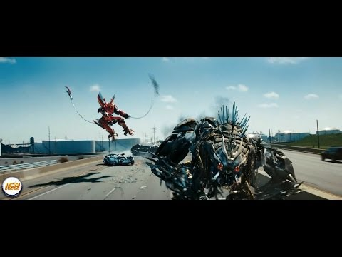 Transformers 3 Dark Of The Moon Highway Chase with Ironhide and Sideswipe VS Dreads 1080p [HD]