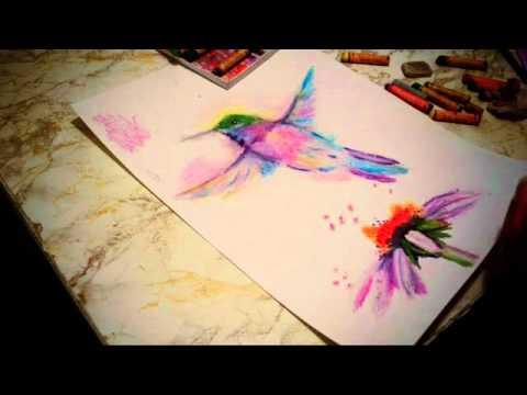 Видео как нарисовать колибри поэтапно
