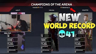 NEW WORLD RECORD! 41 KILLS BY: ItsScubby, ssjfpsTV & SHAAFFER - Apex Legends FULL MATCH