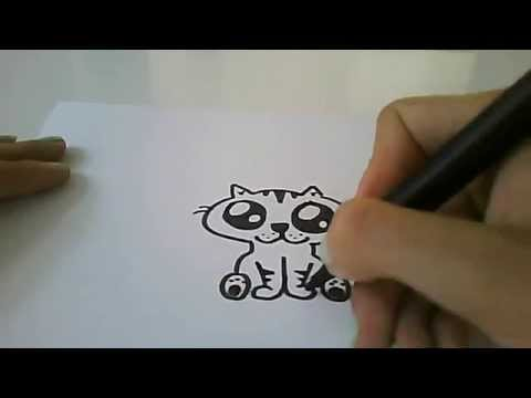 Cute Easy Drawings Draw a Cute Cartoon Cat