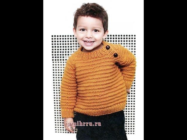 Детский Пуловер Реглан Спицами - 2019 / Children's Pullover Raglan Knitting needles