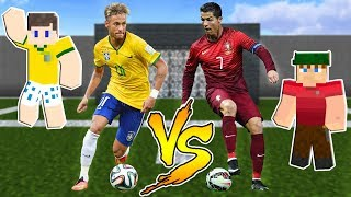 NEYMAR VS CRISTIANO RONALDO NO MINECRAFT!! (BRASIL VS PORTUGAL)