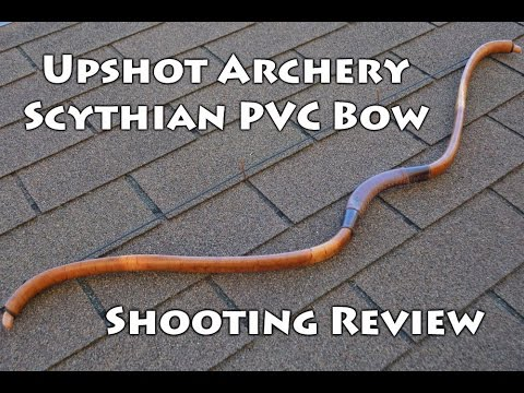 Shooting Review of a 35 Pound Scythian PVC Bow Made by Upshot Archery