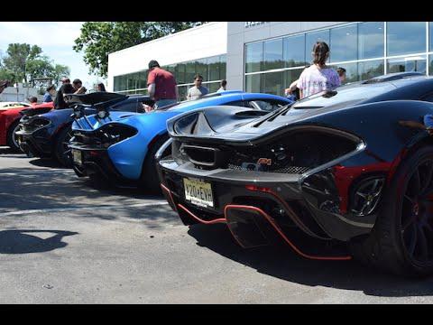 3X McLaren P1 at Cars and Caffe