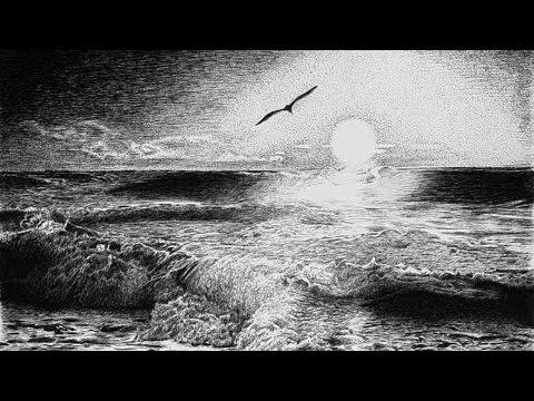 Видео как нарисовать море карандашом поэтапно