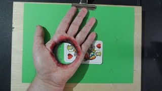 Hole in the Hand, Magical Trick Art