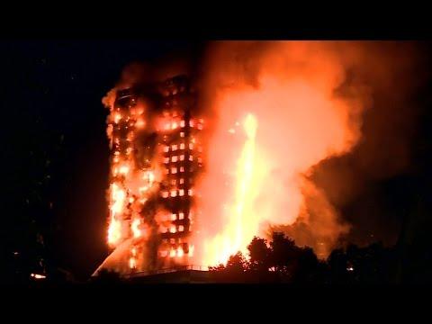Incendie dans un immeuble de Londres: nuit d?inquiétude pour les habitants et riverains