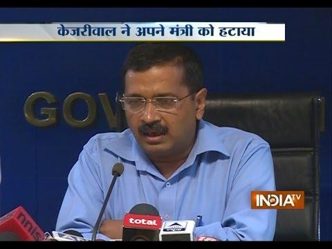 Delhi CM Arvind Kejriwal Sacked Food Minister Asim Ahmed Over Corruption Charges - India TV