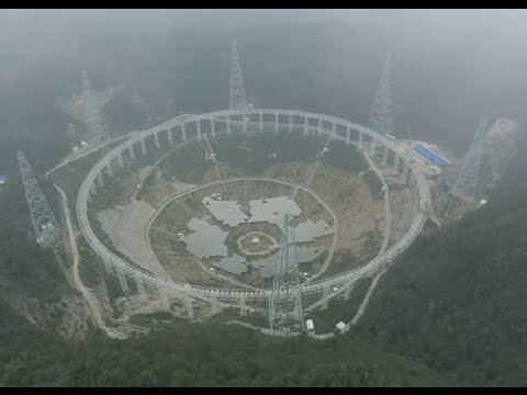 World's Largest Radio Telescope under Construction in SW China