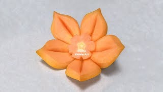 Easy Simple Papaya Design | Beginners Lesson 88 | By Mutita Edible Art Of Fruit Carving Video