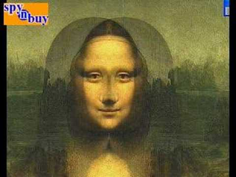 DAVINCI CODE MONA LISA REVEALED AS JESUS! - YouTube Da Vinci Paintings Secrets