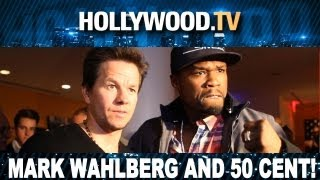 Mark Walhberg and 50 Cent attend premiere of Pain and Gain in NYC - Hollywood.TV