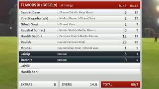 Live Cricket Match | OXYZEN FINANCIAL XI (GGCC19) vs FLAVORS XI (GGCC19) | 24-Apr-19 09:30 pm 15...