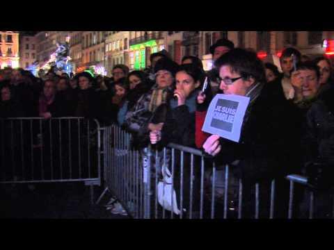 Attentat à Charlie Hebdo : le rassemblement à Lyon place des Terreaux