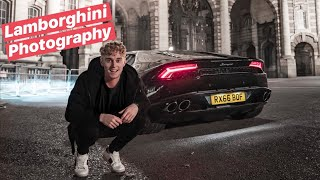 Driving a Lamborghini in London to get Instagram photos. (Night Photography)