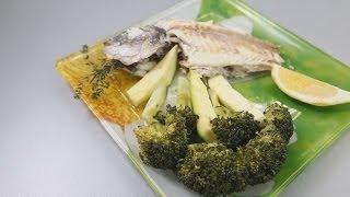 Дорадо, запеченная в соли, с овощами на пару - рецепт уриэля штерна