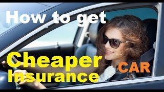 TOP 10 Tips for CHEAPER Car Insurance - How to get Lower Auto Insurance Rates (2019-2020)