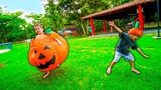 AbÓbora Paulinho E Toquinho Aprendem Sons De Animais Para Crianças E Brincam No Parquinho Infantil