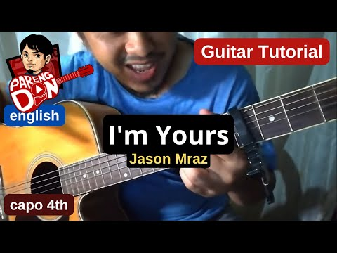Guitar tutorial: I'm Yours rhythm chords Jason Mraz - beginner strumming