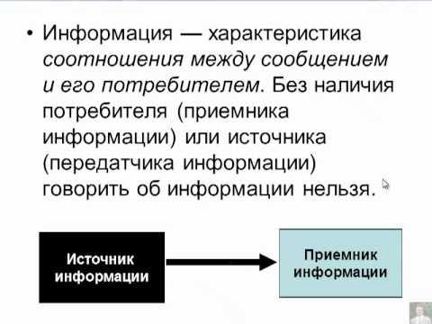 Понятие об информации - 6 класс