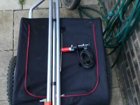 DIY PMR dipole and mast for my bike trailer