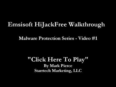 Emsisoft HiJackFree Walkthrough (Malware Protection Series)