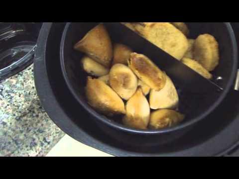 Air Fryer Mondial - Peixe Empanado e Esfirras