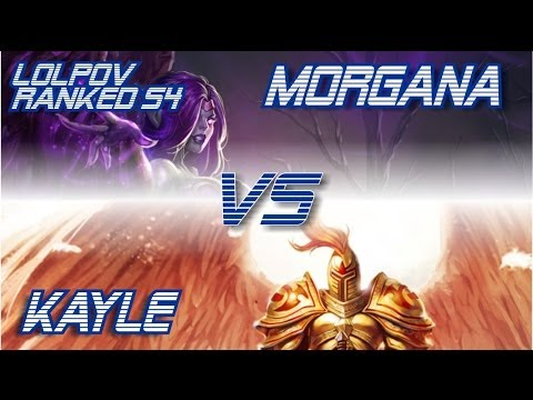 LoLPoV - Morgana vs Kayle [Mid] Ranked Placement Match Season 4 (League of Legends Live Commentary)