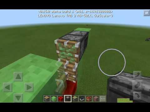 Как сделать самолет в Minecraft PE 0.15.0