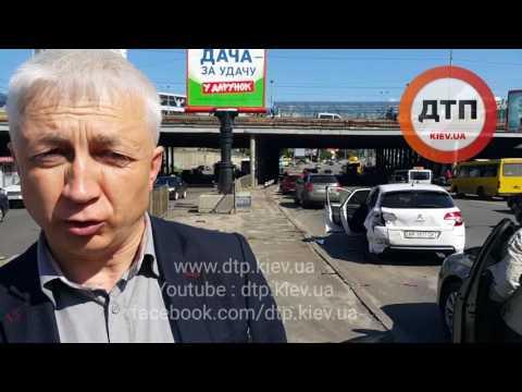 18.05.2016 ДТП КИЕВ ГЕТЬМАНА ИНДУСТРИАЛЬНЫЙ 12 авто паровоз