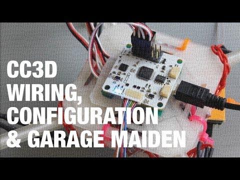 DIY Mini Quadcopter w/ OpenPilot CC3D Wiring. Configuration. and Garage Maiden