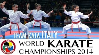 Team Kata ITALY. Kata Paiku. 2014 World Karate Championships.