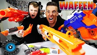 NERF KINDER WAFFEN SCHLACHT | REVIEW - TEST - UNBOXING [DEUTSCH/GERMAN]