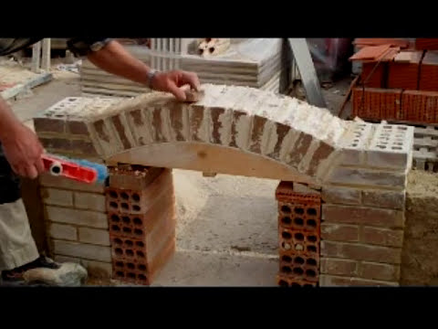 Arco rabajado  construido con ladrillo cara vista Video nº 37 Ac.