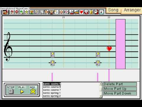 Mario Paint Composer- Sonic the hedgehog medley