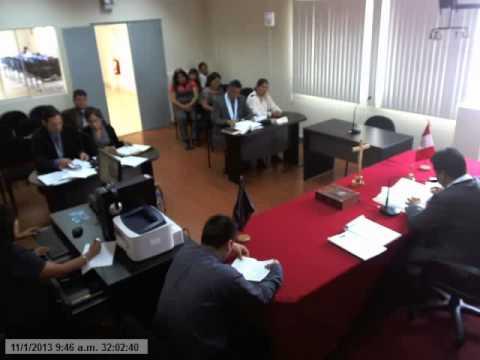 AUDIENCIA DE JUZGAMIENTO I         NUEVA LEY LABORAL Nº 29497 PERÚ (2012)