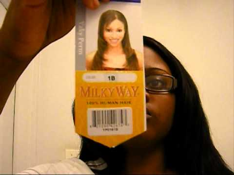 How I wash my Weave- MilkyWay 1 week Hair review (1st video ever!!)