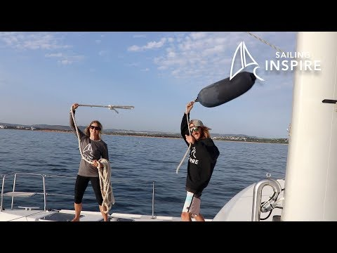 Our Lagoon Cat enters the port of Gibraltar - Sailing Inspire Ep 5