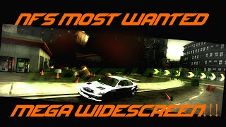 NFS Most Wanted - Start the game with a resolution of more than 21: 9