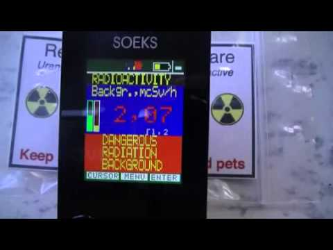 testing my Soeks -01M Geiger counter
