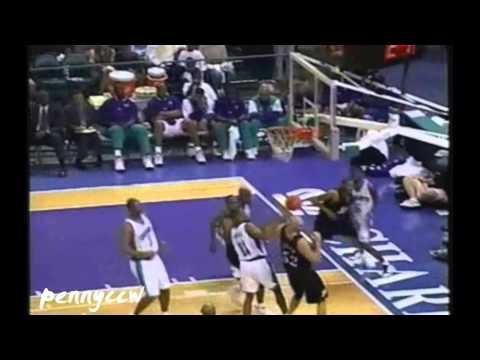 Allen Iverson 39pts vs Eddie Jones the Hornets 98/99 NBA *Ricky Davis crazy putback slam!