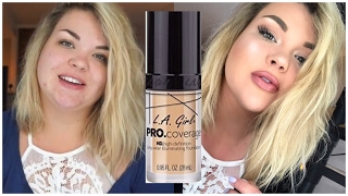 LA Girl PRO Coverage Foundation | FIRST IMPRESSION + REVIEW