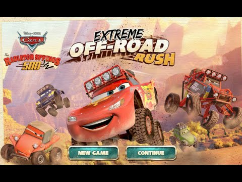 cars extreme off road rush lightning mcqueen disney junior fun