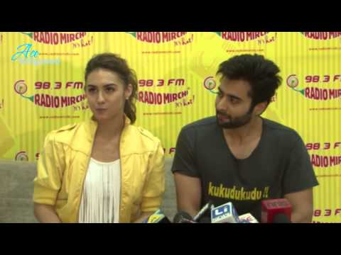 Lauren & Jackky promoting Welcome to Karachi movie