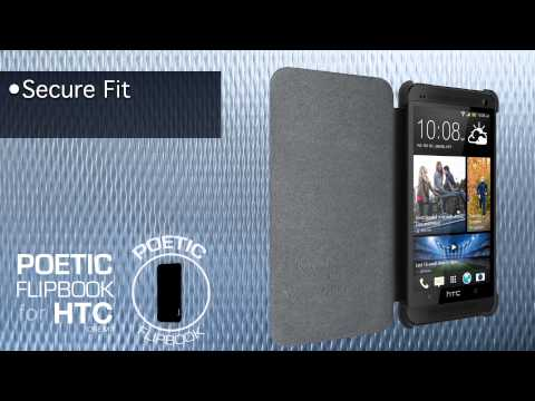POETIC flipbook case  for HTC One M7