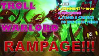 THIS IS WHY YOU DON'T LET TROLL FREE FARM | Dota 2 | Rampage!!!